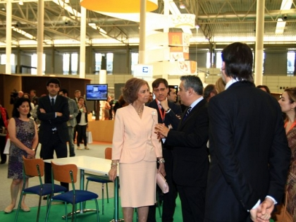 Queen Sofia is interested in projects included in the Atlantic Romanesque Plan
