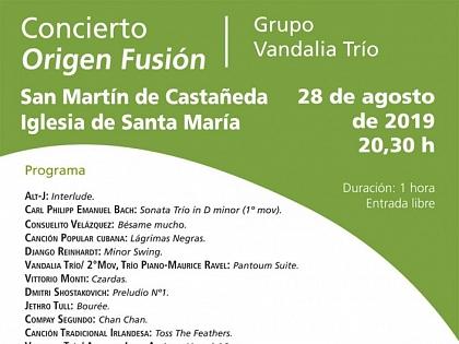 Cartel anunciador del concierto en San Martín de Castañeda. Verano 2019