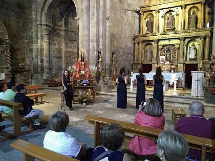 Un momento del recital de Quartet NEUMA en San Martín de Castañeda