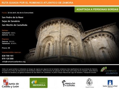 The Atlantic Romanesque Plan has organized a guided tour of temples in Zamora adapted for deaf