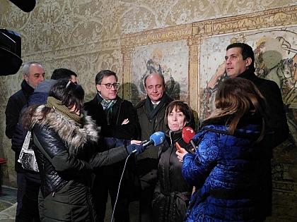Concluyen las obras de restauración de las pinturas murales de la iglesia de Muga de Alba y la nueva